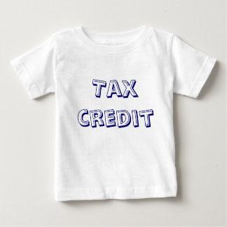 Tax Credit blue text Tee Shirt