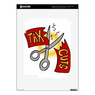 Tax Cuts Cartoon Decal For iPad 3