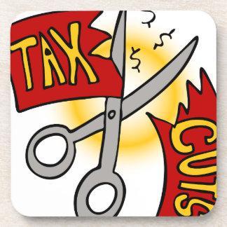 Tax Cuts Cartoon Drink Coaster