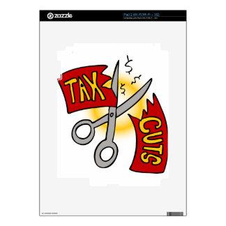 Tax Cuts Cartoon iPad 2 Decal