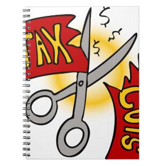 Tax Cuts Cartoon Notebook