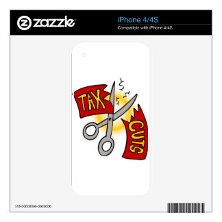 Tax Cuts Cartoon Decals For The iPhone 4S