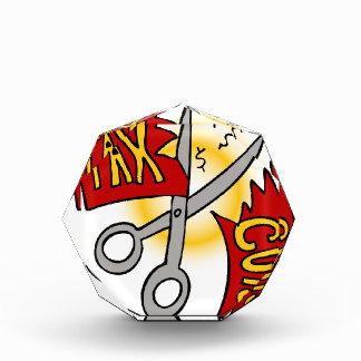Tax Cuts Ribbon Scissors Acrylic Award