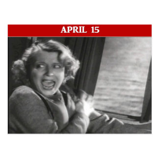Tax Day Panic Attack Postcard