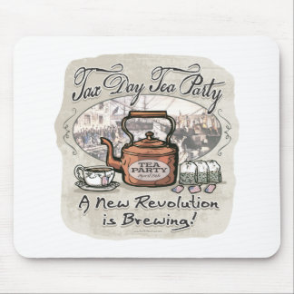 Tax Day Tea Party Gear Mouse Pad