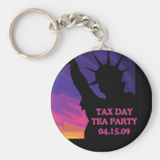 Tax Day Tea Party - Statue of Liberty Key Chain