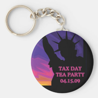 Tax Day Tea Party - Statue of Liberty Key Chains
