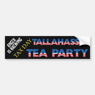 TAX DAY TEA PARTY - TALLAHASSEE BUMPER STICKER