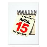 Tax Deadline 5x7 Paper Invitation Card