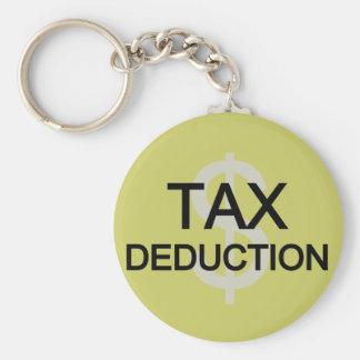 Tax Deduction Tshirts and Gifts Keychain