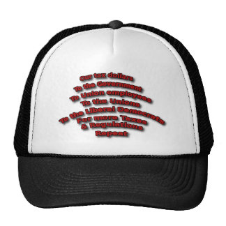 Tax Dollars Cycle Political Conservative Trucker Hat