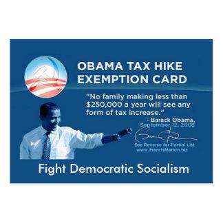 Tax Exempt Card Business Card Templates