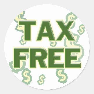Tax Free Classic Round Sticker