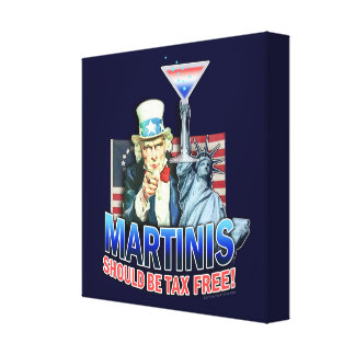 Tax Free Martini Gallery Wrapped Canvas