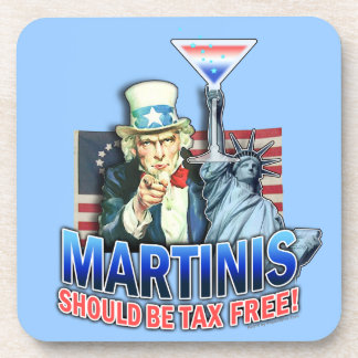 Tax Free Martinis Cork Coaster