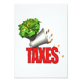 """Tax Grinder 5"""" X 7"""" Invitation Card"""