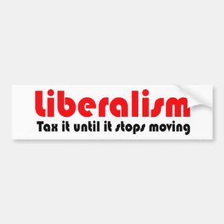 Tax it until it stops moving bumper sticker