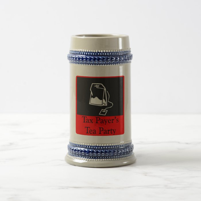 Tax Payer's Tea Party Beer Stein