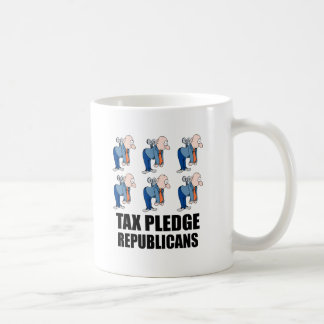 tax pledge republicans coffee mug