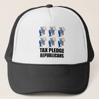 tax pledge republicans trucker hat