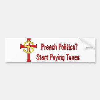 Tax Political Churches Bumper Sticker