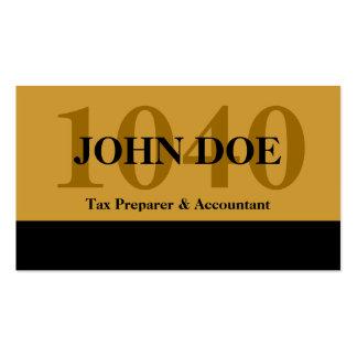 Tax Prep Stripe 1040 Gold Business Card Templates
