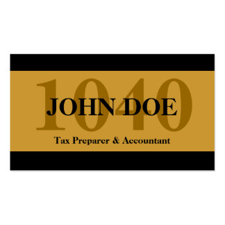 Tax Prep Stripes 1040 Gold Business Cards
