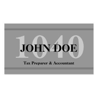 Tax Preparation 1040 Graphite Business Card Templates