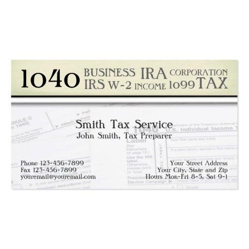 Tax preparation business card templates bizcardstudio tax preparer accountant business card colourmoves