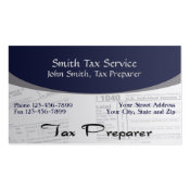 Tax Preparer Accountant Business Card