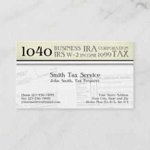 Income tax business cards zazzle tax preparer accountant business card colourmoves