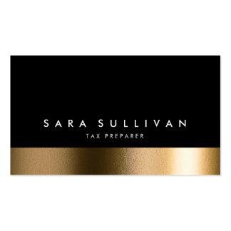 Tax Preparer Bold Black Gold Business Card