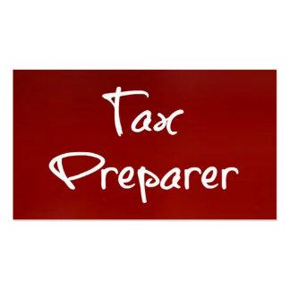 Tax Preparer Business Card