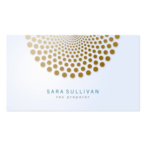 Tax Preparer Business Card Circle Dots Motif
