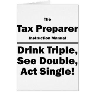 tax preparer card