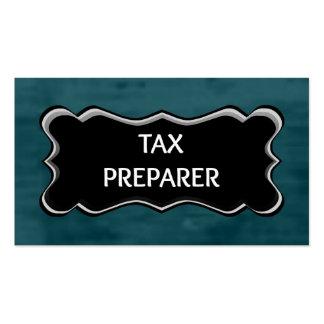 Tax Preparer Elegant Name Plate Business Card