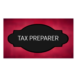 Tax Preparer Elegant Name Plate Double-Sided Standard Business Cards (Pack Of 100)