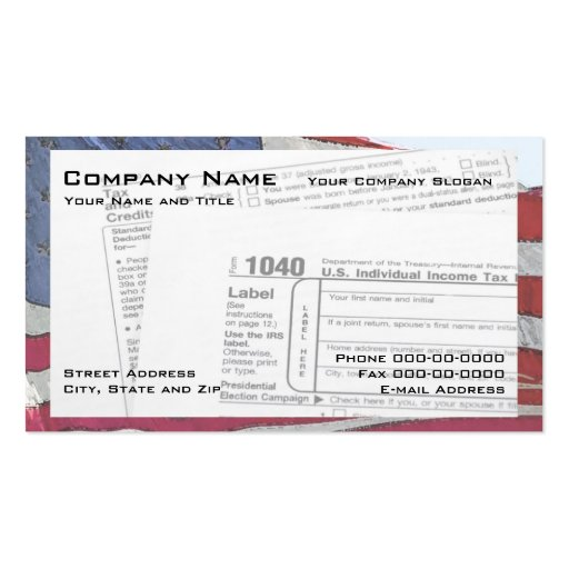 Tax preparer business card templates bizcardstudio for Tax business cards
