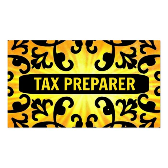 Tax Preparer Sunshine Damask Business Card