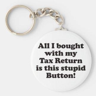 Tax Return - Button Keychain