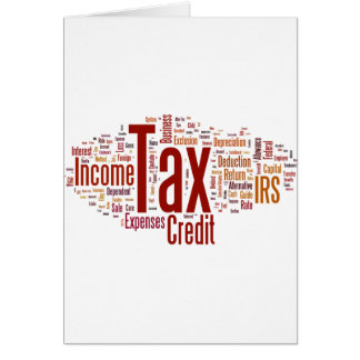 Tax season is here greeting cards