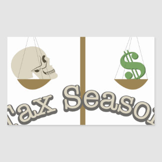 Tax Season Rectangular Sticker