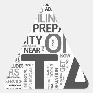 Tax season triangle sticker