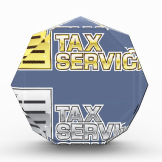 Tax Service Vector Acrylic Award