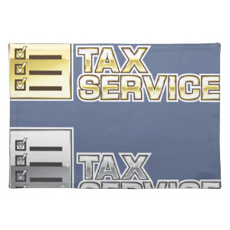 Tax Service Vector Placemat