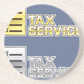 Tax Service Vector Sandstone Coaster