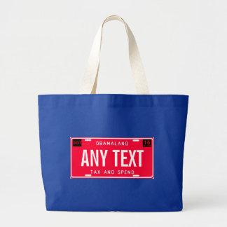 tax & spend jumbo tote bag