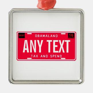 tax & spend metal ornament