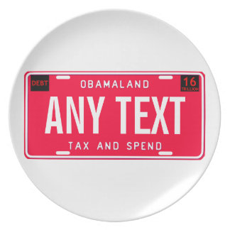 tax & spend plate