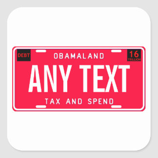 tax & spend square sticker